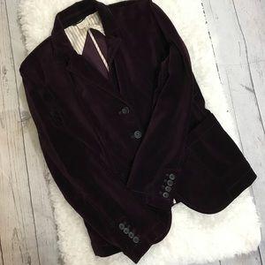 J. Crew velvet blazer size P/M
